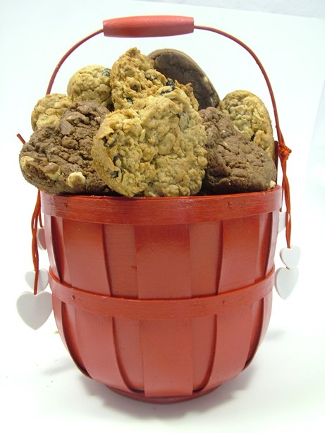 Dangling Hearts Cookie Basket