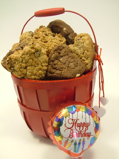 Dangling Hearts Birthday Cookie Basket