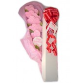 Pink Hearts Cookie Bouquet